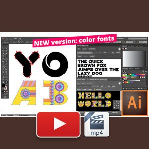 Creating Fonts with Fontself, Illustrator, and Photoshop
