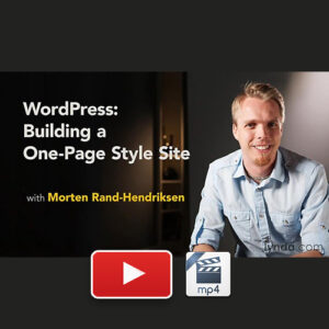WordPress Building a One-Page Style Site